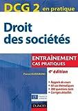 DCG 2 - Droit des sociétés - 4e édition - Entraînements, cas pratiques