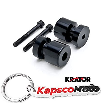 Krator negro basculante carretes Sliders 6 mm para YAMAHA ...