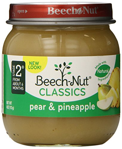 Beech-Nut Classics, Pear & Pineapple, 4 Ounce (Pack of 10)