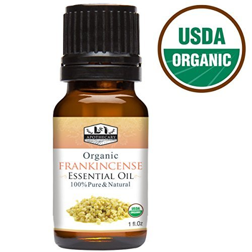 1 fl. Oz / 30 ml Frankincense Essential Oil, USDA Certified Organic, 100% Pure, Natural, undiluted Therapeutic Grade, Refreshing Scent, Excellent for Aromatherapy