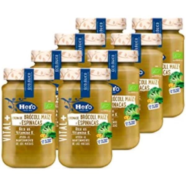 Hero - Crema de Brócoli, Maíz y Espinacas, Rica en Vitamina K ...