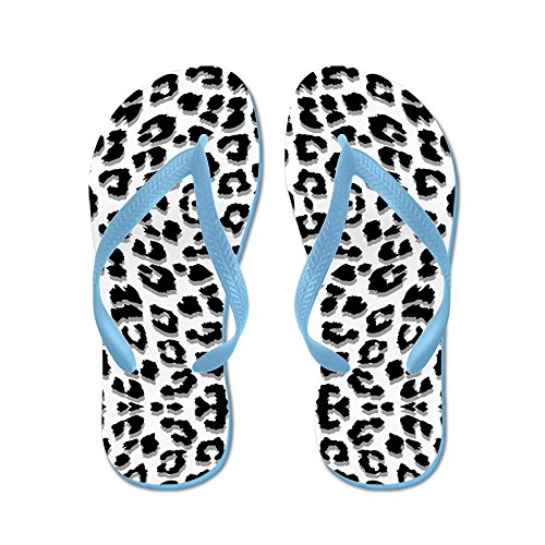Stampa Del Leopardo Delle Nevi - Infradito, Divertenti Sandali Infradito, Sandali Da Spiaggia