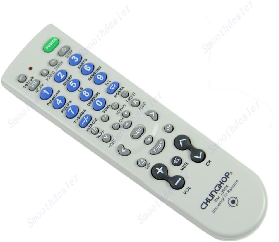 Fang Sky Universal CHUNGHOP rm-139ex TV mando a distancia para marca TV color blanco: Amazon.es: Electrónica