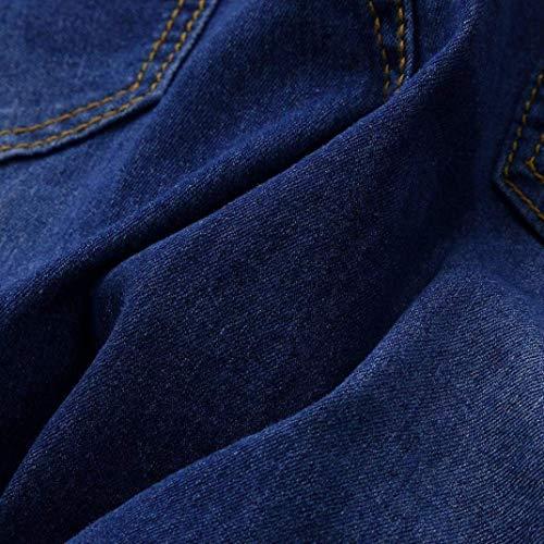Huixin Delgado Cintura Otoño Estiramiento Mujeres Agujeros De Flaco Stretch Vaqueros Lápiz Alta Rasgados Cher Las Pantalones Blau xxnWZO