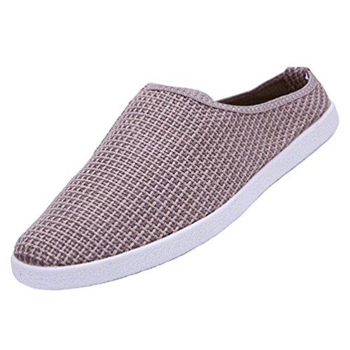 YiLianDa Zapatos Hombres Transpirable Moda Caminando Verano Zapatos Ocasionales Marrón