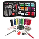 Arts & Crafts : Sewing Kit Travel, RVOKOMS Mini Sewing Kit for Adults, Kids, Traveler, Beginner, Emergency, Family Repair, Sewing Supplies with 12 Color Thread, Scissors, Needles, Tape Measure and Other Accessories