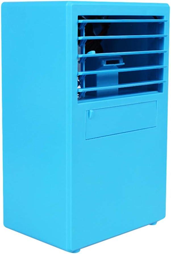 DAYOLY Mini Aire Acondicionado Ventilador Personal Enfriador de Aire portátil Ventilador de Escritorio pequeño para Sala de Oficina Escritorio