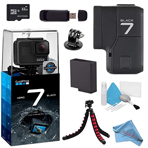 GoPro Hero7 Hero 7 Action Digital Video Camera Black Standard Bundle