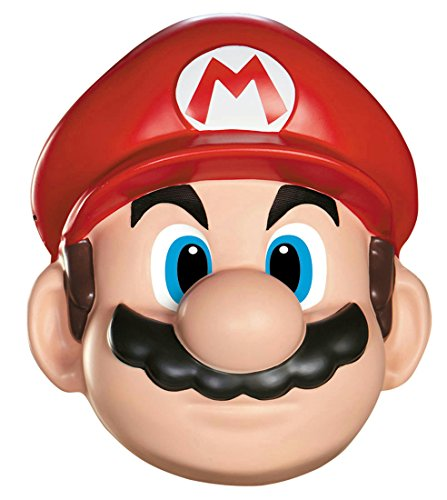 [Disguise Men's Nintendo Super Mario Bros.Mario Adult Mask Costume Accessory, Red/White/Brown, One] (Nintendo Costumes For Adults)