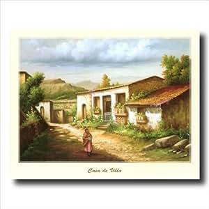 Amazon.com: Mexican Casa De Villa Spanish Landscape Wall