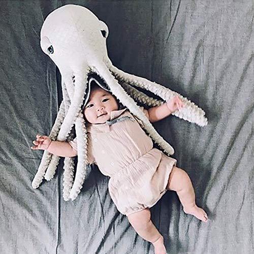 Ojos Grandes Lindos Pulpo Almohada Cojín Grandes Animales De Peluche De Juguete Muñeca Bebé Decoración del Hogar: Amazon.es: Hogar