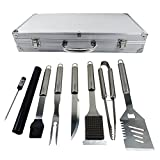Ucharge BBQ Tools Set,18-Piece Grill Tools Set-Spatula, Tongs, Fork,Basting Brush with Aluminium Storage Case Heavy Duty Stainless Steel Barbecue Grilling Utensils
