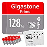 Gigastone Micro SD Card 128GB 5-Pack MicroSD XC U1 C10 with Mini Case and SD Adapter High Speed Memory Card Class 10 UHS-I Full HD Video Nintendo Switch Dash cam GoPro Camera Samsung Canon Nikon Drone