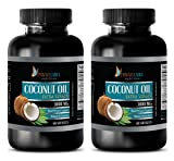 Weight loss pills for women that work fast - EXTRA VIRGIN - COCONUT OIL 3000mg - Coconut oil for workout - 2 Bottles 120 Softgels