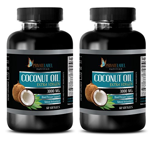 Weight loss pills for women that work fast - EXTRA VIRGIN - COCONUT OIL 3000mg - Coconut oil for workout - 2 Bottles 120 Softgels by Private Label