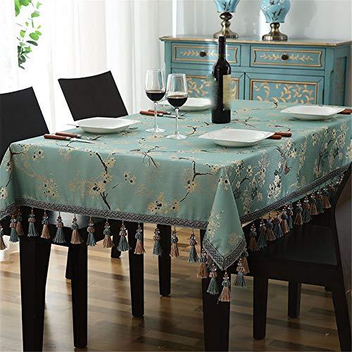A2 130180CM XJKLFJSIU-tablecloth Nappe Rectangulaire Jacquard Broderie De Table De Cuisine en Tissu Tissu De Table De Thé, A2, 130  180Cm