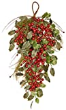 Worth Imports Pine Berry Holly Leaf Teardrop, 28''