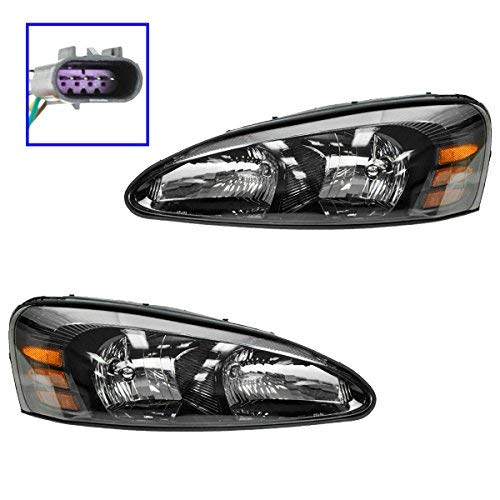 Headlights Headlamps Left & Right Pair Set for 04-08 Pontiac Grand Prix