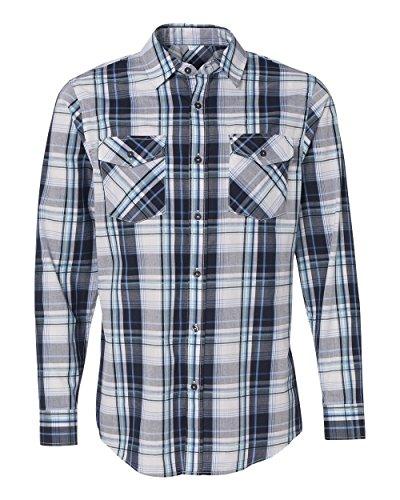 Burnside B8202 - Long Sleeve Plaid Shirt