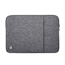 "Caison 15.6"" Waterproof Classic Comfort Laptop Sleeve Case Pouch 15.6 inch Notebook Bag Protective Skin Cover (Grey)"