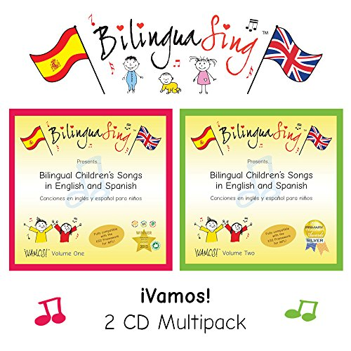 Award Winning Cd (LOVED BY PARENTS! Spanish Songs for Kids | BilinguaSing 'Vamos' series | 2 CD Multipack | Primary School | AWARD-WINNING CHILDREN'S MUSIC)