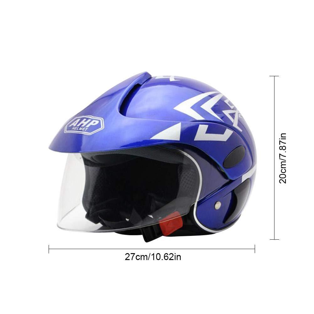Jethelm Motorradhelm Halbschalenhelm Unisex Helm F/ür Kinder Mit Sonnenblende Helm Mit Samt Futter F/ür Harley