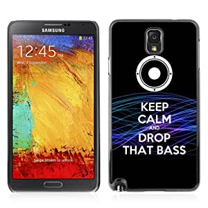 Designer Depo Hard Protection Case for Samsung Galaxy Note 3 N9000 / Keep Calm & Drop THAT BASS