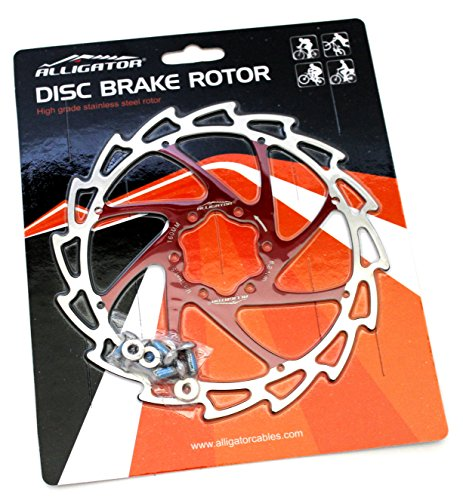 Light Disc Rotor - Alligator Light Weight Wind-Cutter Disc Brake Rotor, Red, 160mm