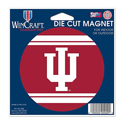 Indiana Hoosiers Official NCAA 4.5 inch x 6 inch Car Magnet by Wincraft by WinCraft