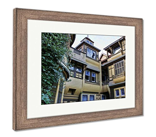 Ashley Framed Prints The Winchester Mystery House, Wall Art Home Decoration, Color, 34x40 (Frame Size), Rustic Barn Wood Frame, AG6534469