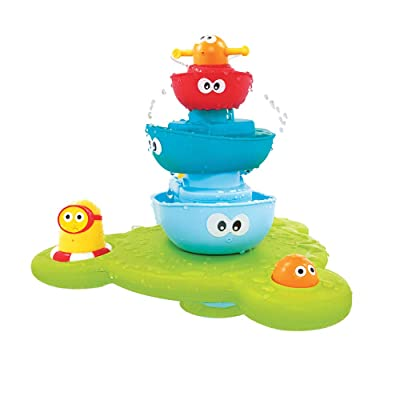 Bath Toy - Stack N' Spray Bathtub Fountain - 7 Unique Pieces with Different Functions : Bathtub Toys : Baby