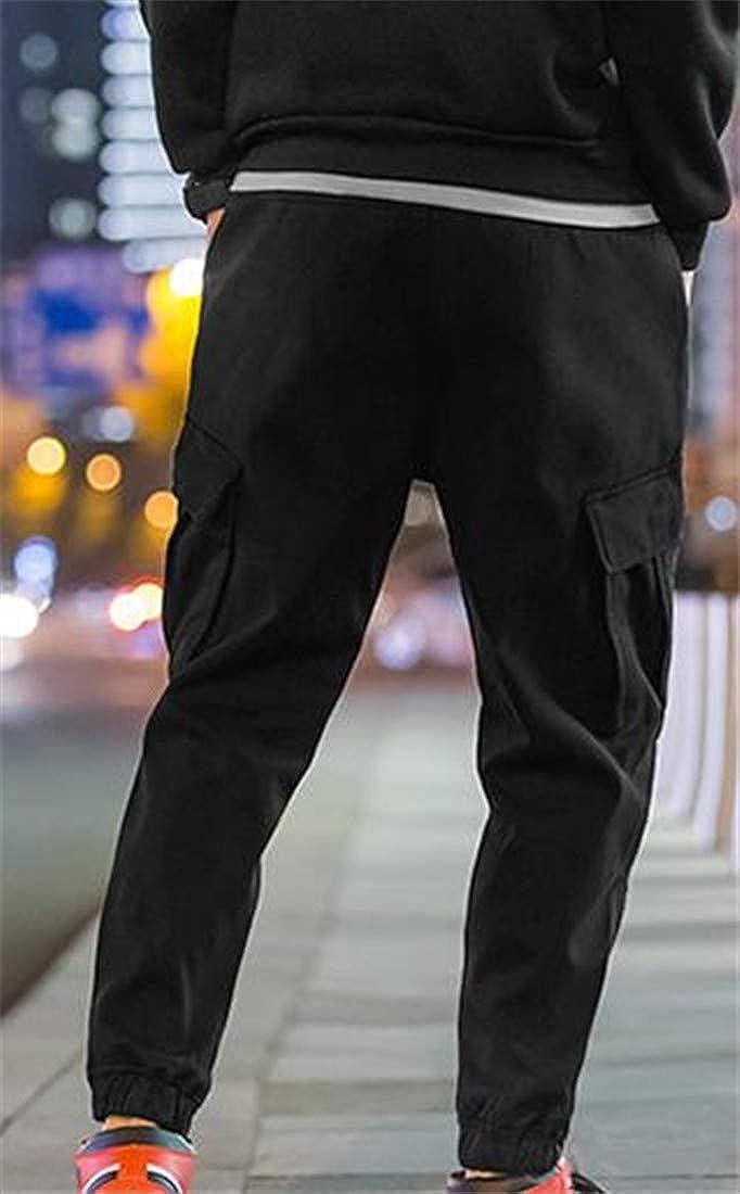 Pandapang Mens Casual Sport Rugged Multi-Pocket Breathable Cargo Pants