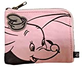 Japan Walt Disney Official Dumbo - Cute Elephant Mascot Pink Travel Wallet Pouch with Front Pocket Credit ATM ID Money Card Case Picture Pencil Pen Holder Protector Business Stationery Fashion
