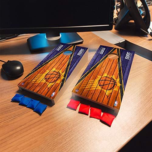 Victory Tailgate Phoenix Suns NBA Basketball Desktop Cornhole Game Set Triangle Weathered Version