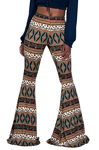 Herose Female Plus Size Stretchy Elastic Tights Palazzo Pants Yoga Slacks 2XL (Plus Size 70s Clothing)