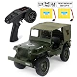 Rc Trucks, Military Truck Drive Off-Road Rc Cars, 1:10 Scale 4WD 2.4Ghz Remote Control Trucks for Adults and Kids