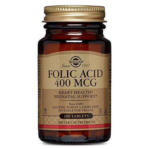 Solgar - Folic Acid 400 mcg, 100 Tablets