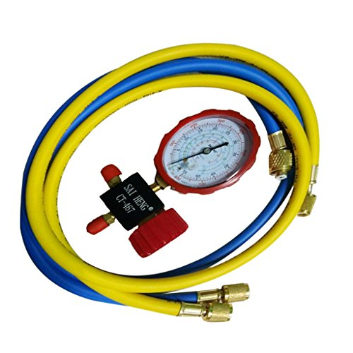 - Homyl Mini Split System Low Side Charging Manifold, Pressure Gauge, Hose Set