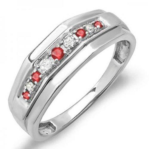 Diamond & Ruby Wedding Band - 2