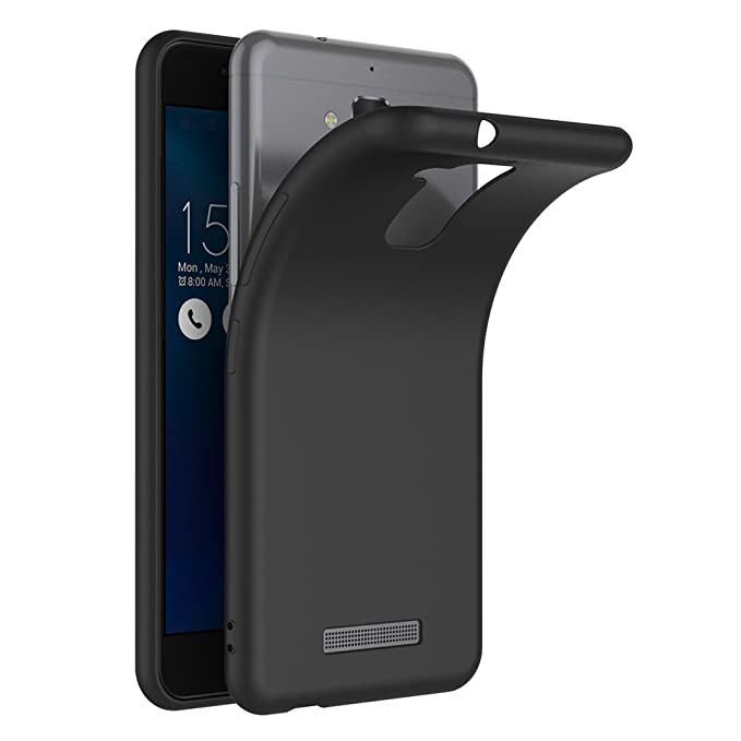 AICEK Funda ASUS ZenFone 3 MAX ZC520TL, Negro Silicona Fundas para ZenFone 3 MAX ZC520TL Carcasa ASUS ZenFone 3 MAX ZC520TL Negro Silicona Funda Case