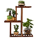 JHZWHJ Wooden Flower Rack Indoor Plant Stand Wooden Plant Flower Display Stand Wood Pot Shelf Storage Rack Outdoor