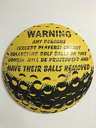 Golf ball funny tin sign (Golf Tin Sign)