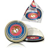 IKE & ZELDA USMARINEOLDSET US Marine Seal on 2 in. K9 Quality44; optical grade Crystal pyramid & magnet