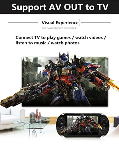 JXD new 4.3 inch 8GB build in 1200+ games for Arcade NEOGEO/CPS/FC/SFC/GBA/GBC/GB/SMC/SMD/SEGA Handheld Game Console Video Game Console game Player MP3 MP4 MP5 (Blue) by JXD (Image #4)