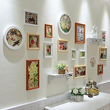 GMM® Bilderrahmen, Mauer Kombination Dekoration Foto Wand Kreative Wohnzimmer  Wand Hintergrund Bücherregal Wand