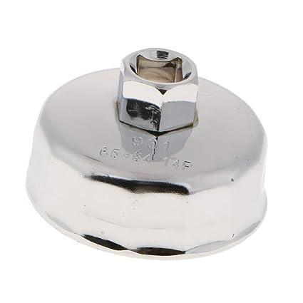 Sharplace Tapa Removedor de Filtro de Aceite de Plata Rejilla de Aceite 14 Flautas para Coche