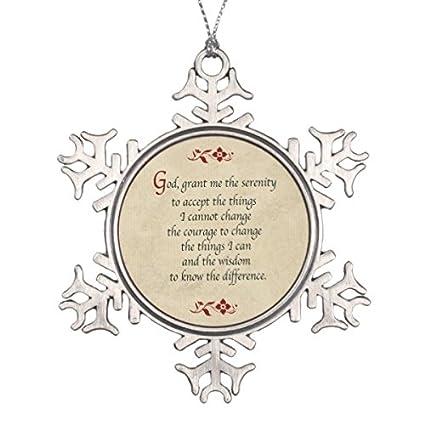 Follies Christmas Serenity Prayer/Vintage Style Snowflake Pewter Christmas  Ornament - Amazon.com: Follies Christmas Serenity Prayer/Vintage Style