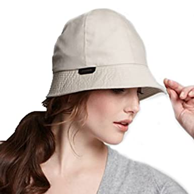Image Unavailable. Image not available for. Color  Burberry Gaberdine Dark  Gabrielle Cotton Bucket Rain Hat ... 15f331b45c