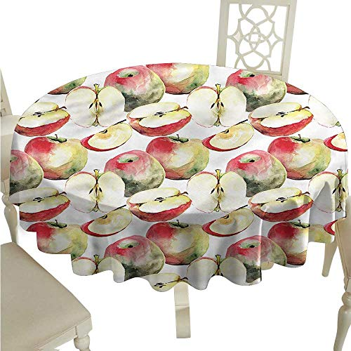 crabee Decor Collection Table ClothsApple,Organic Mclntosh Fruits,Table Cover for Outdoor and Indoor
