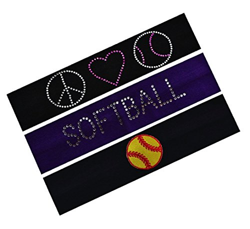 SOFTBALL Player Gift Set (Set of 3) Softball Cotton Stretch Headbands By Funny Girl Designs by Funny Girl Designs (Image #5)